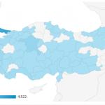 Visitatori dalla Turchia per Provincia (dati 2016)