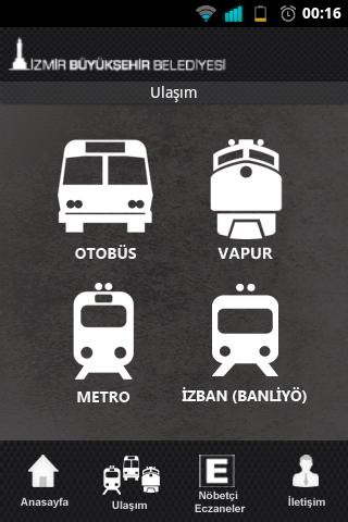 İzmir Buyuk Sehir App - trasporti