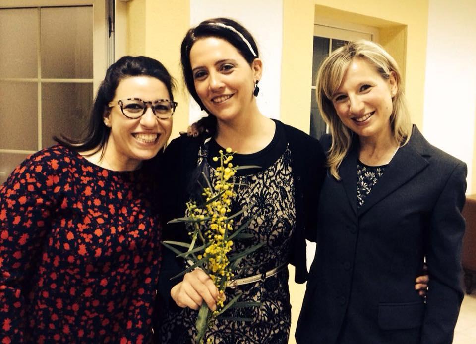 Le promotrici del DEC. Da Sinistra: Chiara, Diletta, Eva