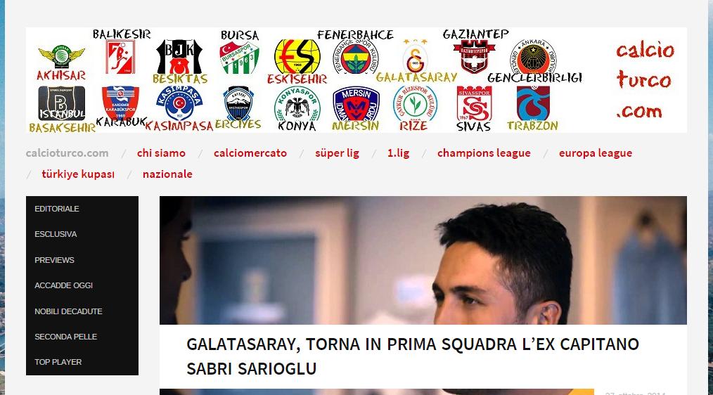 calcioturco.com home page