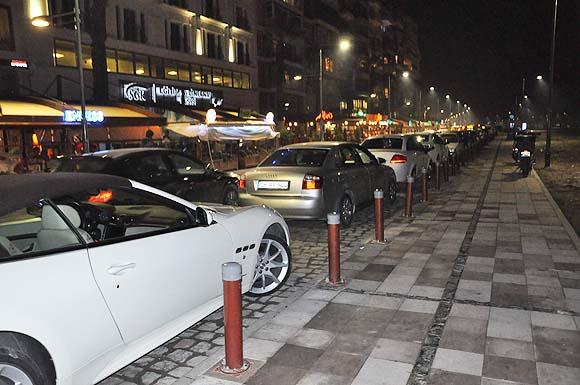 Il traffico sul Kordon di Notte