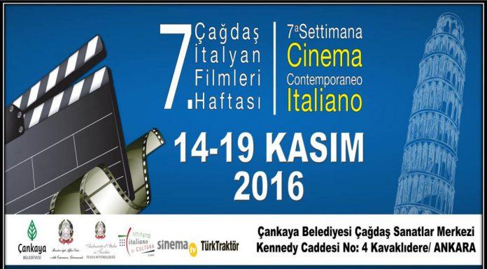 7 settimana cinema italiano Ankara